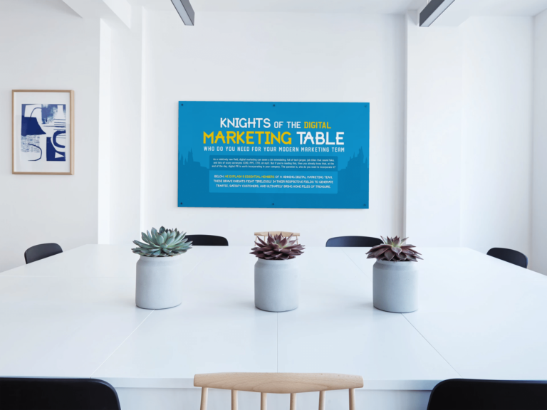 Knights of the Digital Marketing Table Mock Up