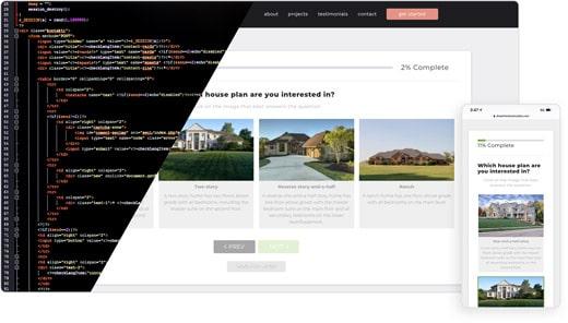Web Development Showing Code