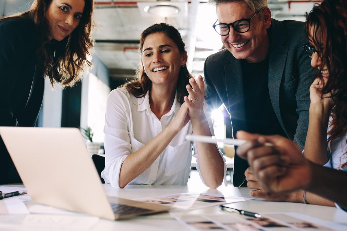 Team Celebrating Marketing Strategy