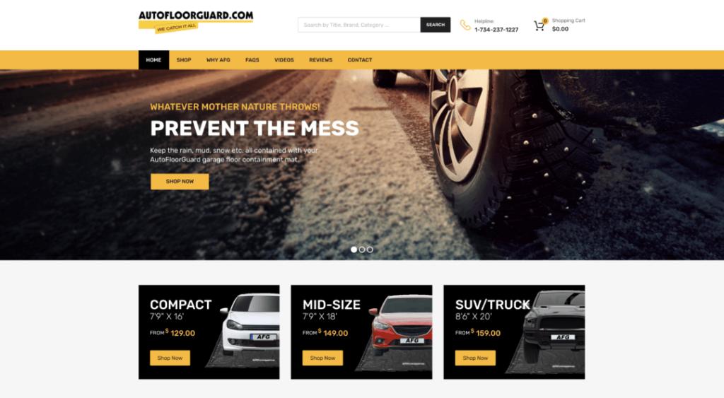 AutoFloorGuard Homepage Example