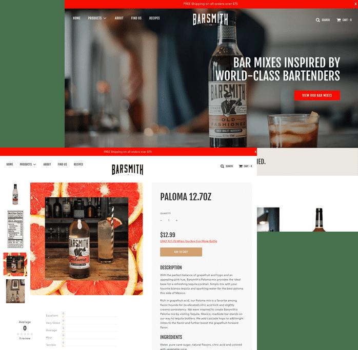 Barsmith.com Design Example