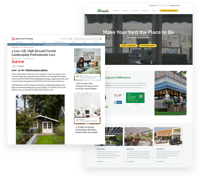 Marygrove Awnings Link Building Examples