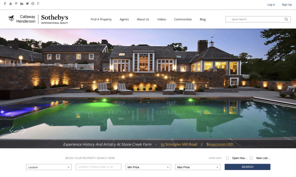 Callaway Henderson Home Page Example
