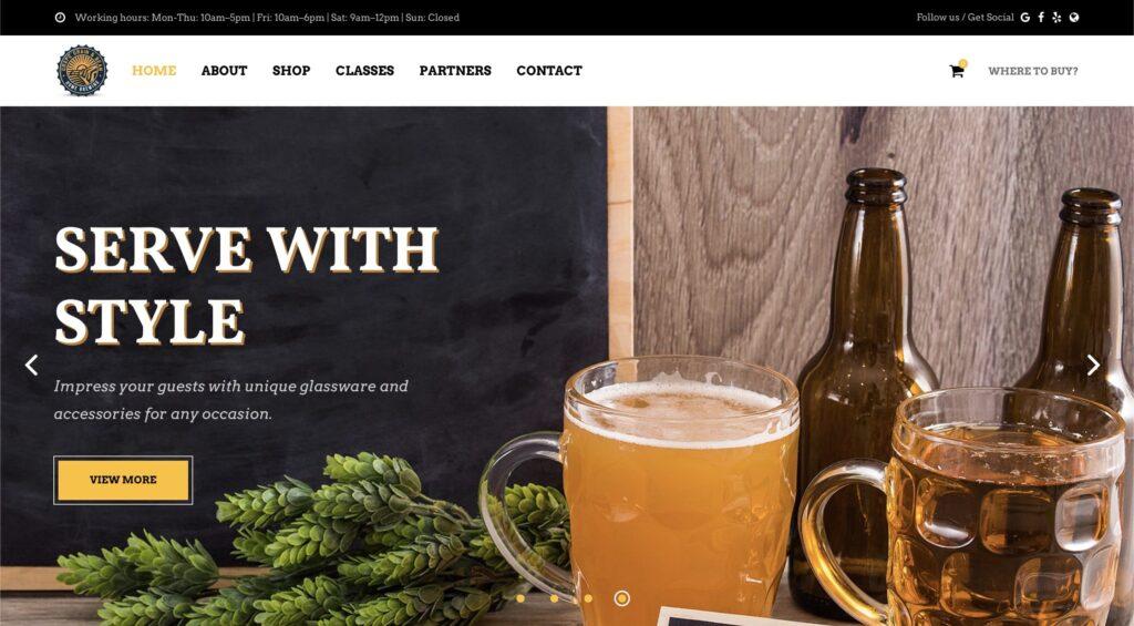 Grape Grain and Bean Website Example