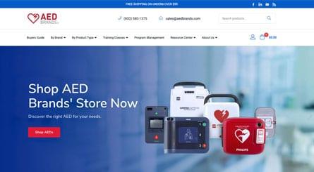 AED Brands Homepage Header