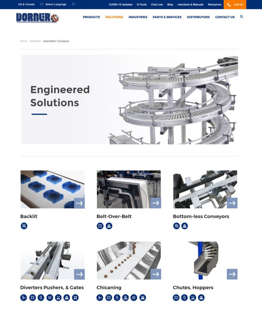 Dorner Conveyors Engineered Solutions