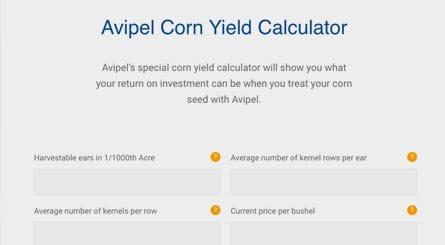 Avipel Corn Yield Calculator