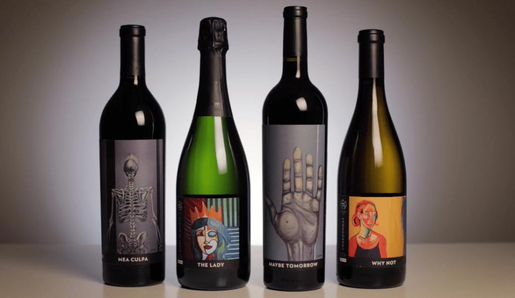 71 Painted Wines Bottle Shot