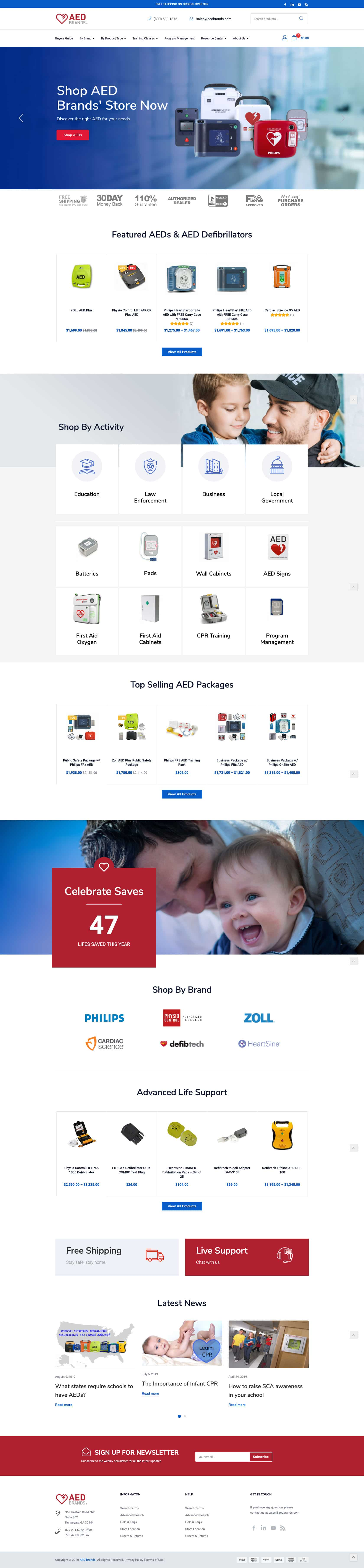AED Home Page Design Example