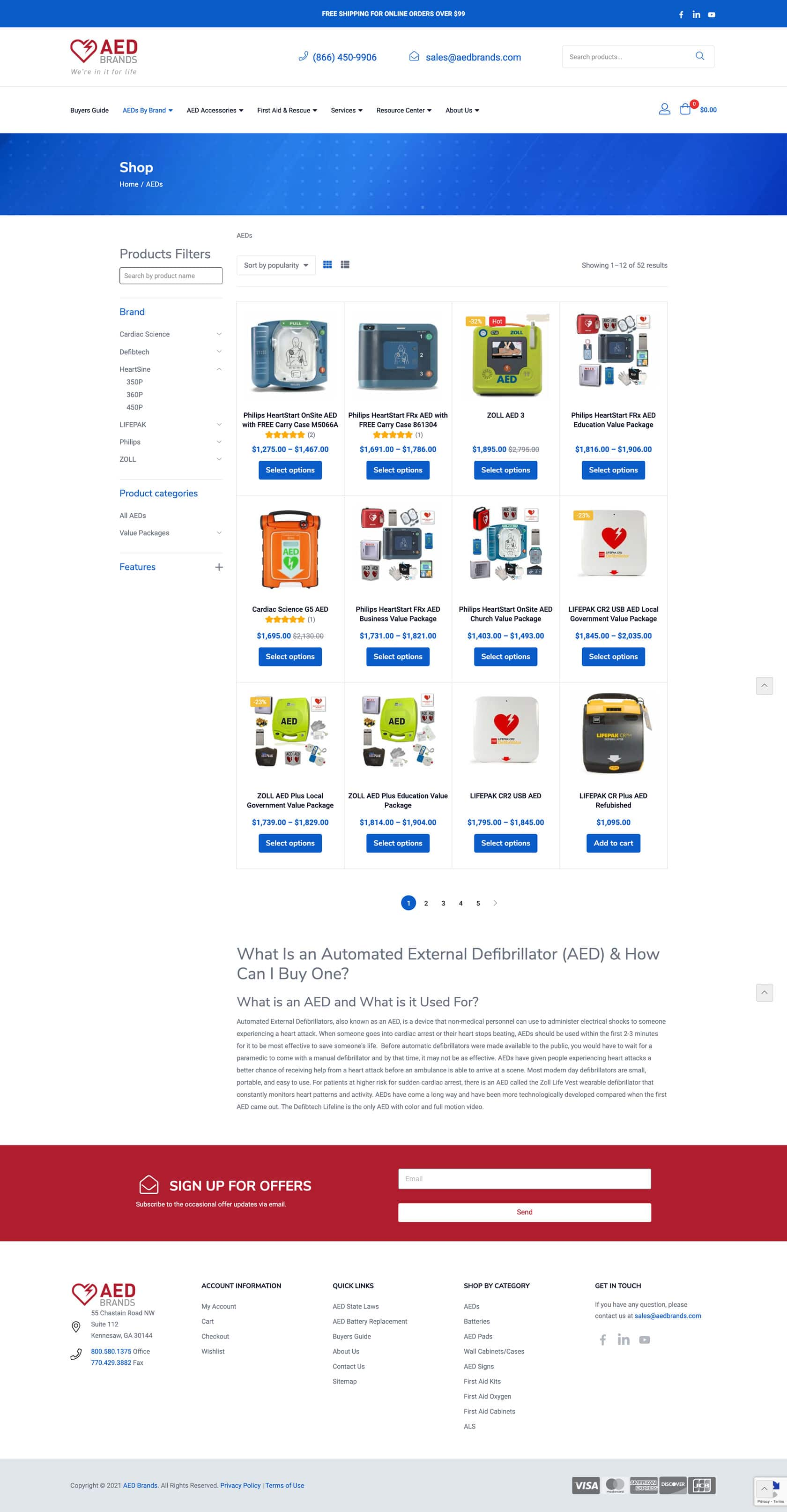 AED Store Page Example