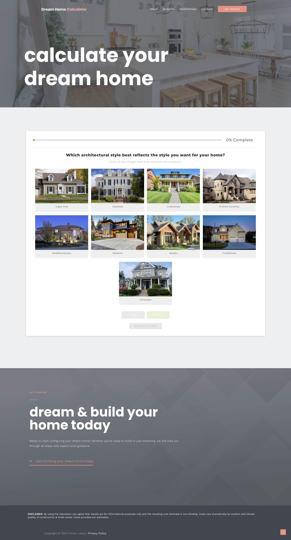 Dream Home Calculator Step 1