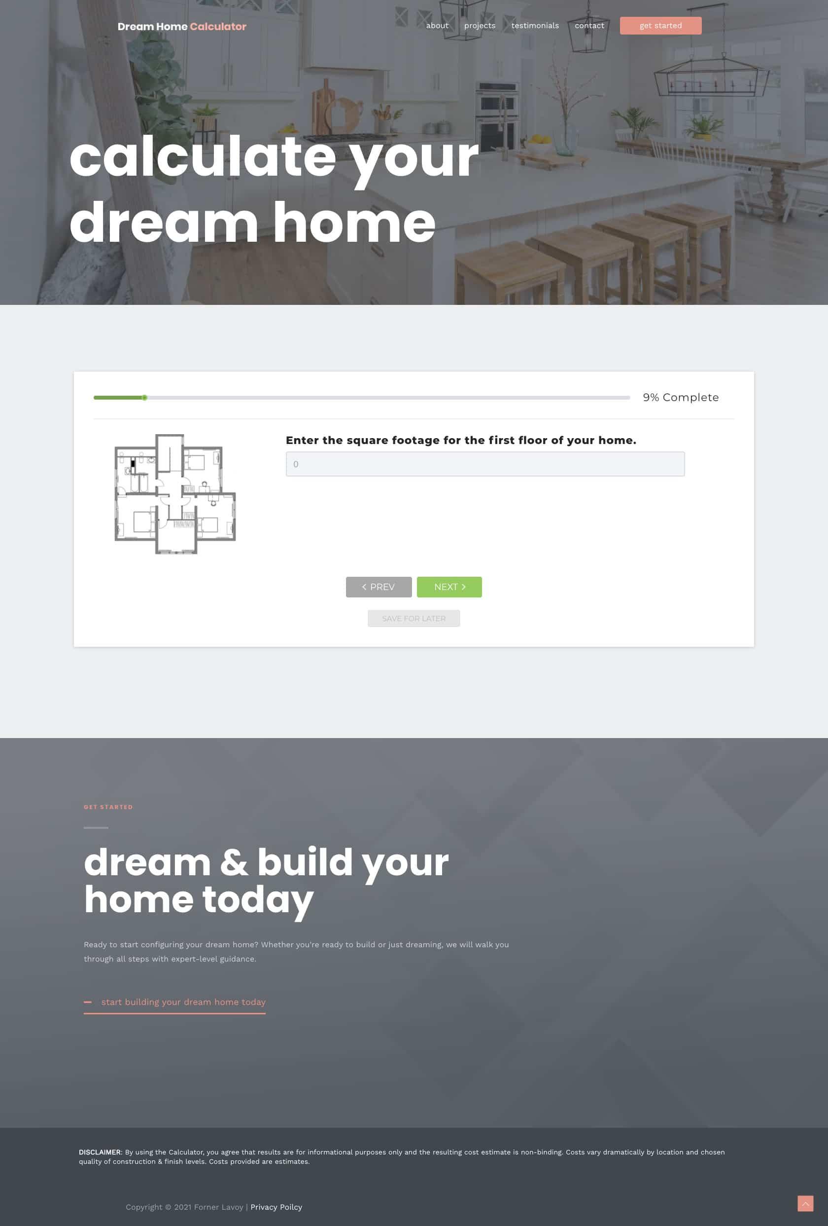 Dream Home Calculator Step 2