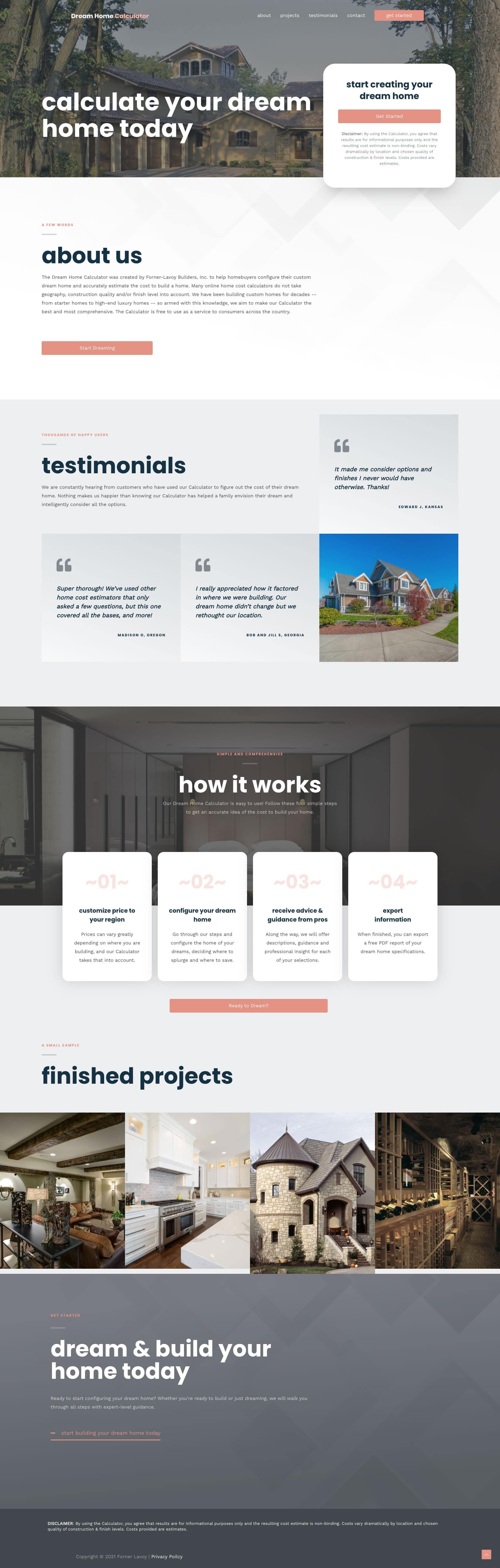 Dream Home Calculator Full Page