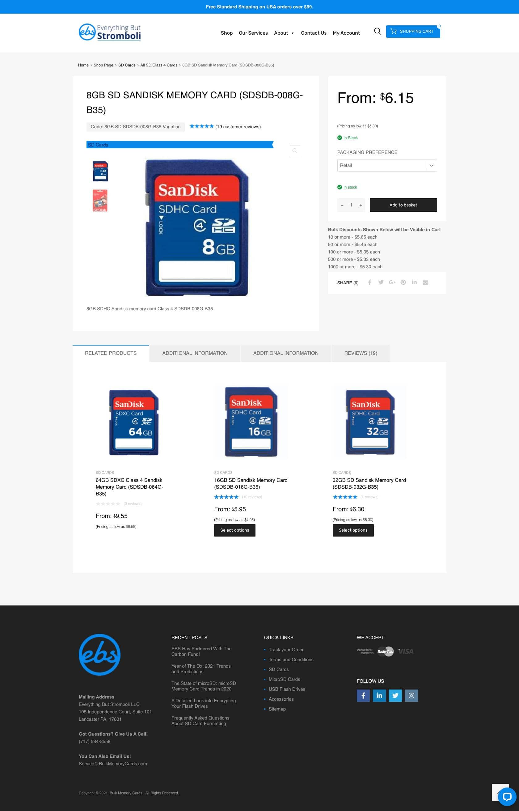 Bulkmemorycards.com product page
