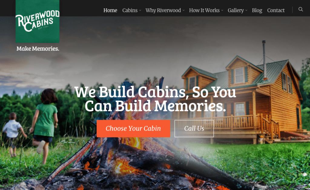 Riverwood Cabins Website